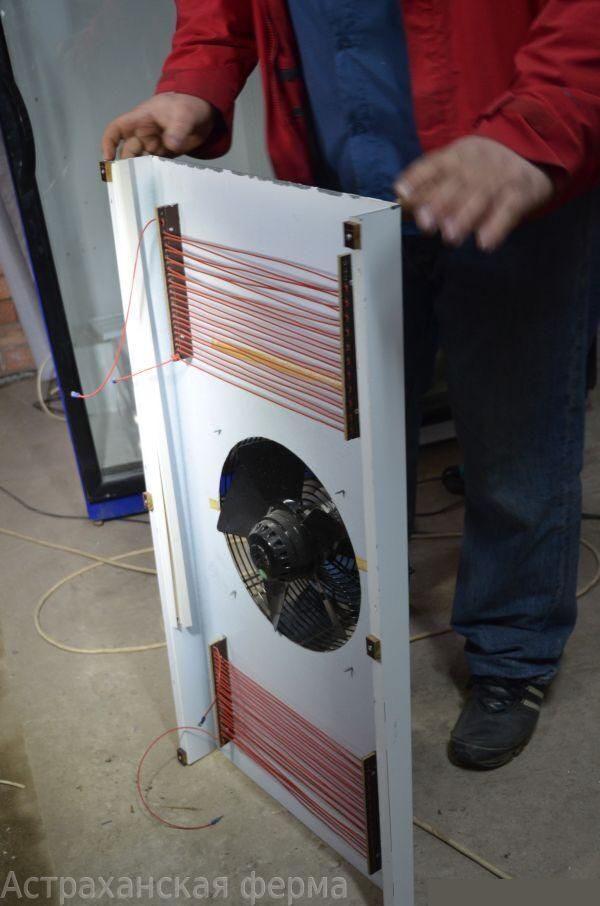 Как сделать обогрев в инкубаторе из холодильника